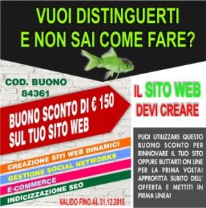 COUPON SCONTO SITO WEB